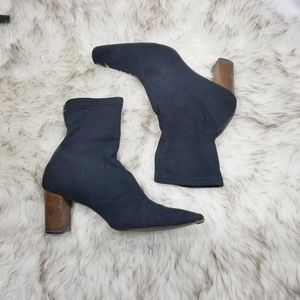Vintage Gucci black fabric sock boots sz 8.5